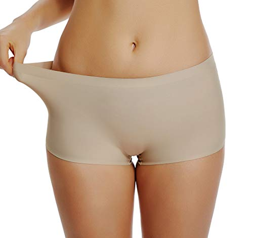 Slip Shorts for Women Under Dresses Skirts Seamless Smooth Panties Boyshort