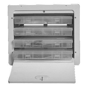Tackle Box with 4 Plano Trays - 14.875'' x 17.188'' by Teak Isle