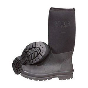 Boots, Steel Toe, Rubber, Black, 8, PR by Muck Boot