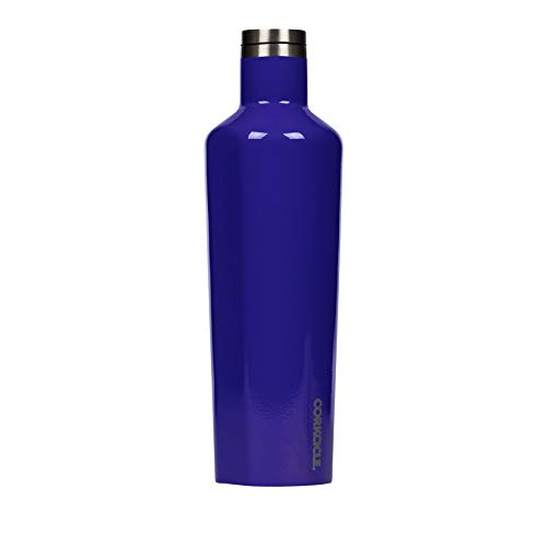 Corkcicle Canteen Classic Collection - Water Bottle & Thermos - Triple Insulated Shatterproof Stainless Steel, Gloss Acai Berry, 25oz