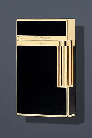 S.T. Dupont Ligne 2 Lacquer Lighter - Black/Gold 16884 by S.T. Dupont