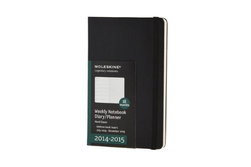Moleskine 2014-2015 Weekly Planner, 18 Month, Large, Black, Hard Cover (5 x 8.25) (Moleskine Diaries)