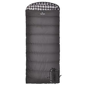 TETON Sports Fahrenheit Regular 0F Sleeping Bag; TETON Sleeping Bag Great for Cold Weather Camping; Lightweight Sleeping Bag; Hiking, Camping; Grey, Left Zip
