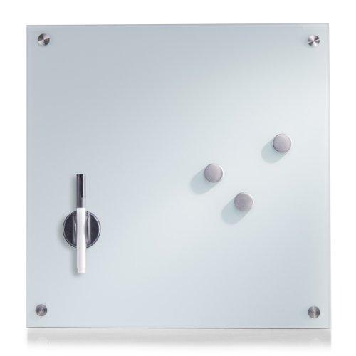 Zeller 11600 Memobord, Glas / 40 x 40, weiß
