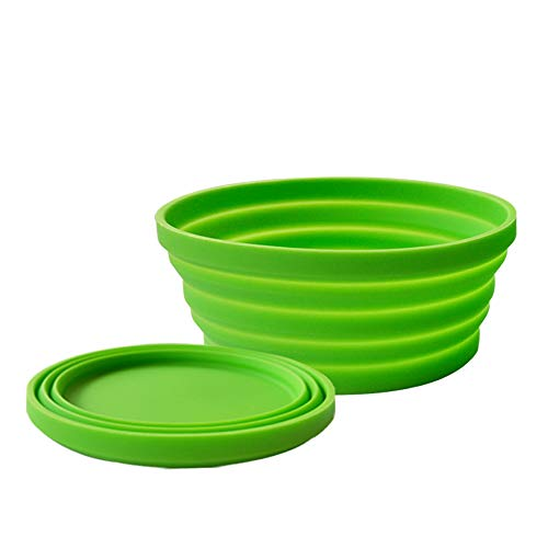 Ecoart Silicone Expandable Collapsible Bowl for Travel Camping Hiking (Green(S)) ()