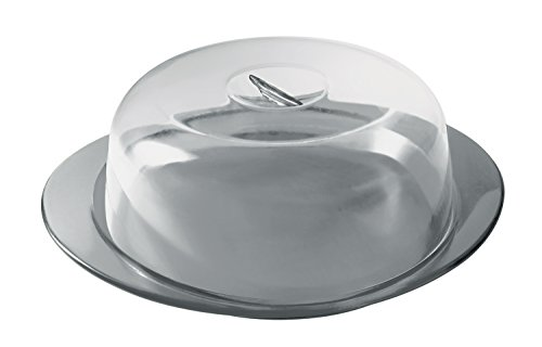 Grey Pie Server (Guzzini Feeling Cake Serving Set, 15-1/2-inches by 13-inches by 4-1/2-inches, Sky Grey)
