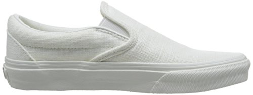 White White Classic Trainers Adults' on Vans Unisex on Slip Canvas ySzTp0qw