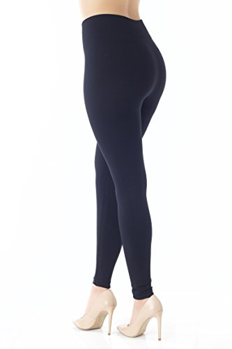 Premium-Warm-Fleece-Lined-Leggings-High-Waist-Tights-Regular-and-Plus-Size-20-Colors-by-Conceited