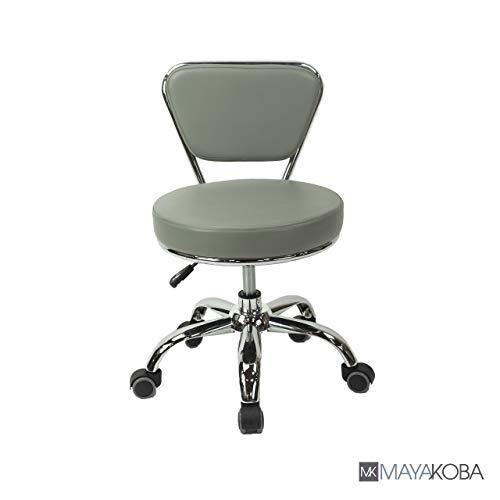 Salon Nail Pedicure Stool Pedicure Chair DAYTON Storm Grey Pneumatic, Adjustable, Rolling Salon Furniture & Equipment