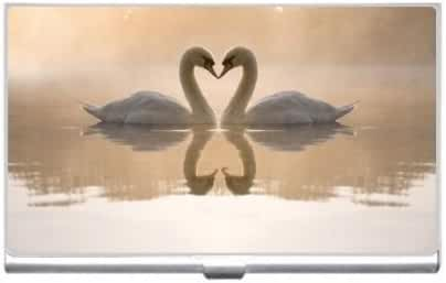 New Beautiful Birds Swans In Love Business Credit Card Holder Case