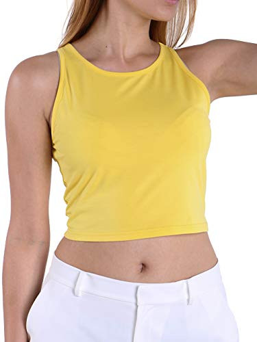 - Fyriona Women's Organic Cotton Crop Tank Top Basic Solid Racerback Slim-Fit Cool Exercise