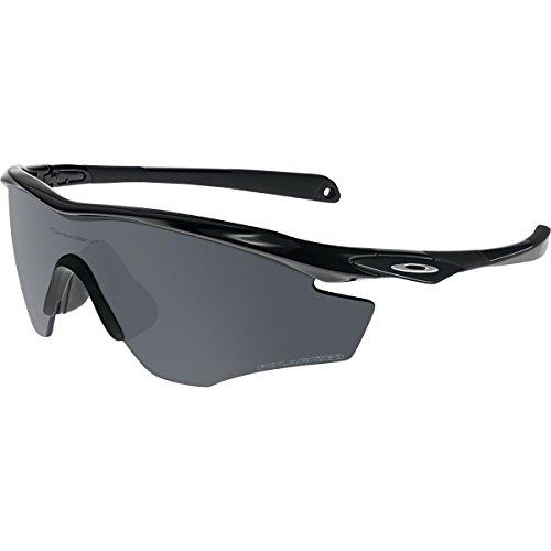 Oakley Men's OO9343 M2 Frame XL Shield Sunglasses, Polished Black/Black Iridium Polarized, 45 mm (Frames Oakley)