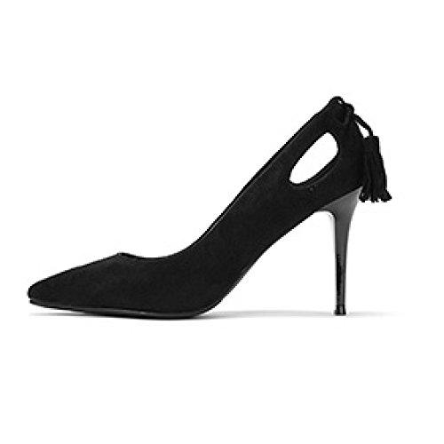 De Discoteca Black Corte snfgoij La Zapatos Altos 9cm UK Tacones Zapatos Trabajo Negro Arcos Boda Moda Borla Daphne Mujer 2 EU Sexy Elegante 34 Fiesta wwHvUq8f