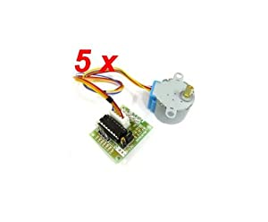 MW 5 sets 28BYJ-48 28BYJ48 5V 4-Phase 5-Wire Arduino Stepper Motor with...