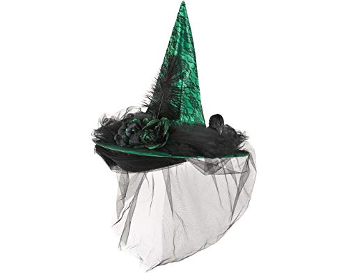 Green Witch Hat Halloween Costume Accessories, One Size, by Amscan ()