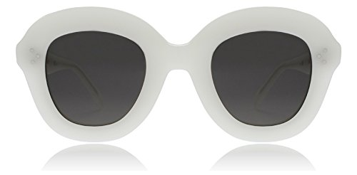 Celine CL41445/S VK6 White Lola Round Sunglasses Lens Category 3 Size - Sunglasses Celine White