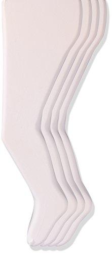 trimfit Big Girls' Nylon Spandex Opaque Tights, 4-Pack, White, 10/14 -