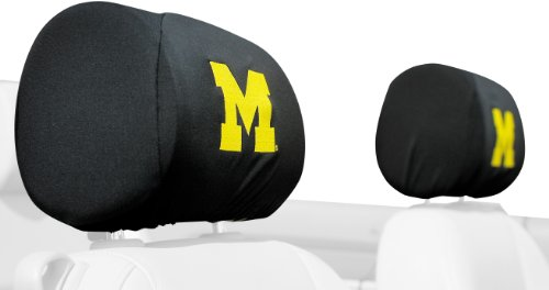 NCAA Michigan Wolverines Headrest Covers, Set of 2