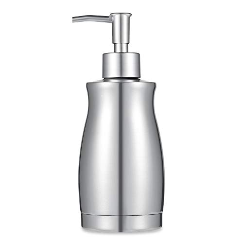 ARKTEK Soap Dispenser - Stainless Steel Rust and Leak Proof System Hand Soap Dispenser, Kitchen and Bathroom Pump for Liquid (13.5 Ounce / 400ML)