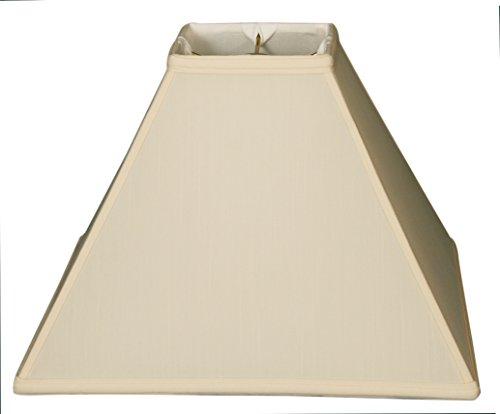 - Royal Designs Square Sharp Corner Basic Lamp Shade, Eggshell, 5 x 14 x 11.5