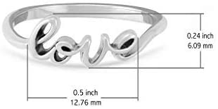 Boma Jewelry Sterling Silver Love Script Ring