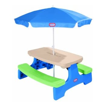 Amazon Com Little Tikes Easy Store Picnic Table With