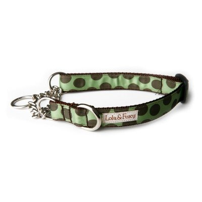 "Mint Chocolate Chip Martingale Dog Collar Size: 1"" X-Large"