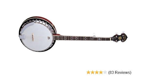 Amazon Com Oscar Schmidt Ob5 Gloss Mahogany 5 String Banjo Musical