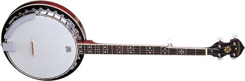 Oscar Schmidt OB5 Gloss Mahogany 5-String Banjo (Banjo 5 String Resonator)