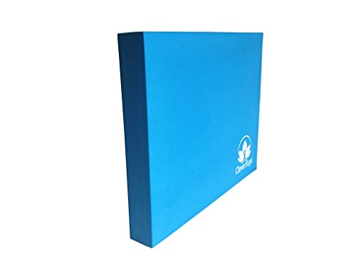 "Clever Yoga X-Large Premium Balance Pad 19.75'x15.75'x2.5'– Comes With Our Special ""Namaste"" (Blue)"