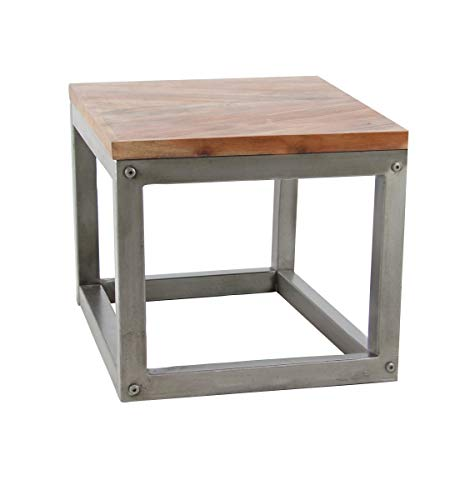 - Deco 79 28807 Modern Metal and Wood Side Table, 24