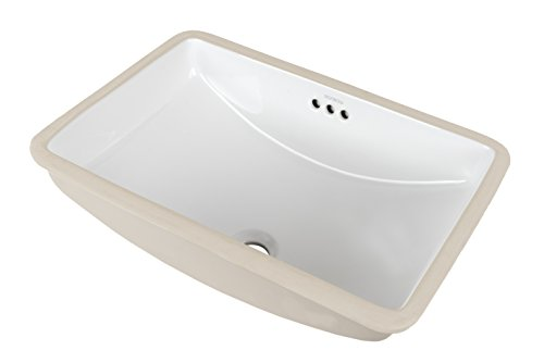 58 Caxton Undercounter Lavatory (RONBOW Restyle 18 Inch Rectangle Undermount Ceramic Bathroom Vanity Vessel Sink in White 200532-WH)