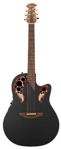 Ovation Adamas 2080-ES Deep Contour Limited Edition Acoustic-Electric Guitar, Black