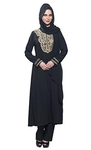 Schwarz Schwarz Kleid East Gr Damen Essence xxxxxl wqxBUXx