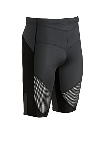 CW-X Conditioning Wear Men's Stabilyx Ventilator Shorts (Black, Small) (Pro Core Fitted Short)