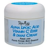 Reviva Labs Alpha Lipoic Acid Vitamin C Ester and DMAE Cream, 2 Ounce - 3 per case.