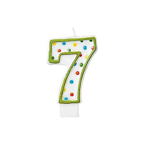 polka dots #7 candle