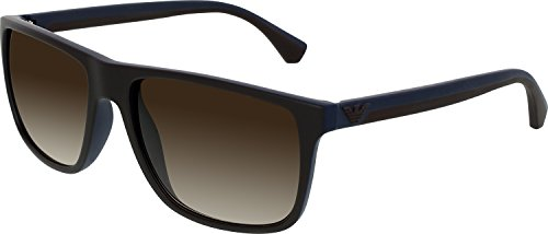 Emporio Armani EA4033 Sunglasses 523113 Brown/Rubber Blue - Sunglasses Armani