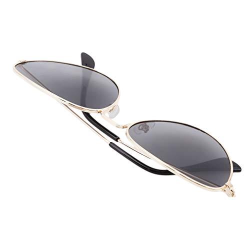 Mode Soleil Miroir Les Femmes Ovale Vintage Cat Eyewear Retro Shade En Travers Eye Lunettes Or Cadre Et À Pour Lens Jaune Lnlyin Hommes Gris De Doré 7x8II