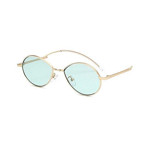 de protection Rétro designer de unisexe nouveauté pour de lunettes conduite lentille UV de et les personnalité nuances soleil lunettes ovale dame PC hommes petite lunettes femmes la Vert d soleil de les de qZx0tXx