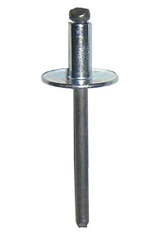 SD54BSLF STEEL BLIND RIVET WITH STEEL MANDREL, LARGE FLANGE, 5/32 x .188-.250 GRIP (Pack of 500)