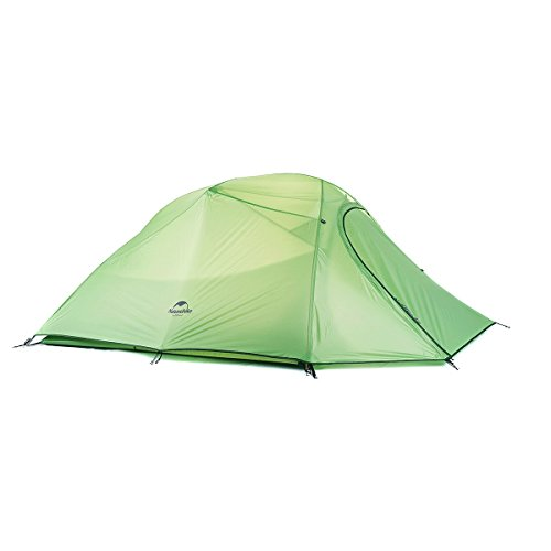 Naturehike Cloud-Up 3 Person 4 Season Backpacking Tent with Footprint - Lightweight Winter Tent for Hiking, Camping and Expeditions (210T Green)