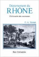 Lire Le département du Rhône. Disctionnaire des communes epub pdf