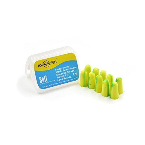 otection Ear Plugs with Box Sound Blocker Noise Canceling Extra Soft Foam Earplugs Reusable, Ideal for Sleep Music Concert Drummer Percussion DJ and Clubbing (yellow) ()