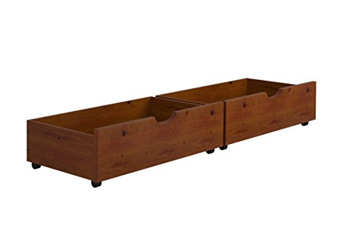 Wood Underbed Storage - Under-Bed Storage Drawers--Espresso