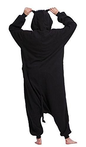 Animale Kigurumi Cosplay 4 Nero Costume Pigiama Sleepwear Unisex Adulto tvqfvw6