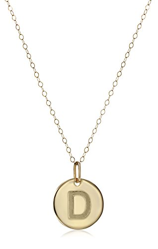 14k Yellow Gold Disc Initial