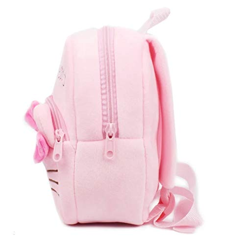 Houzini New Cute Pink Plush Hello Kitty Mini Backpack for Young Children Ages 3-5 Years Old