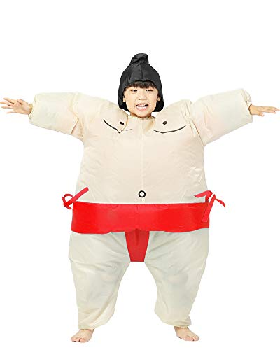 Inflatable Adult Sumo Wrestler Suits Wrestling Fancy Dress Halloween Costume One Size Fits Most (Red Kid)