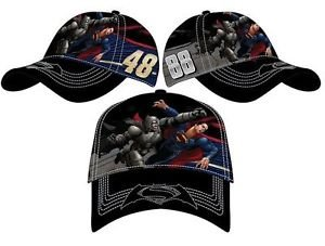 NASCAR Dale Earnhardt Jr #88 Jimmie Johnson #48 Batman vs. Superman Black Cotton Polyester Adjustable Hat (Adult) (88 Youth Baseball Bat)